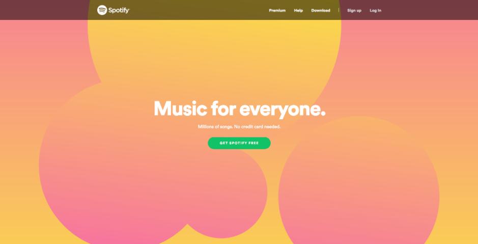 Spotify Web Design