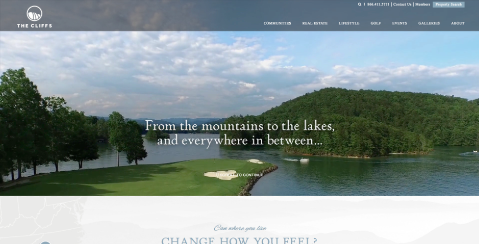 The Cliffs Web Design