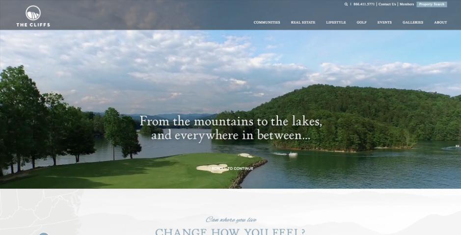 The Cliffs Web Design